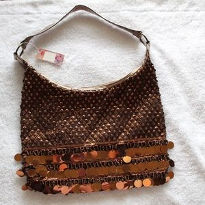 Handbags - Brown sequin bag